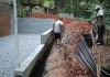 Installing water proofing system for Basement
