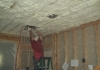 Walls and ceilings sprayed with foam insulation for maximum energy savings